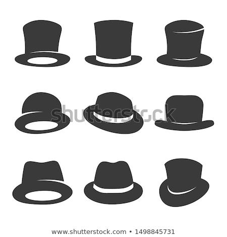 şerif · şapka · kroki · ikon · vektör · yalıtılmış - stok fotoğraf © sdcrea