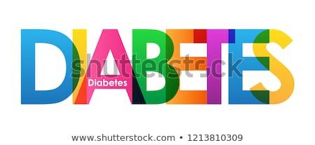 diabetes kit with text diabetes stock photo © andreypopov