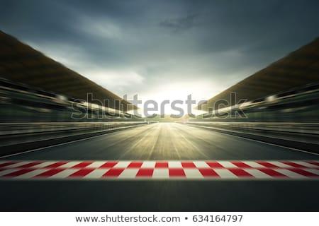 út · vezetés · nagysebességű · üres · bemozdulás · autó - stock fotó © ssuaphoto