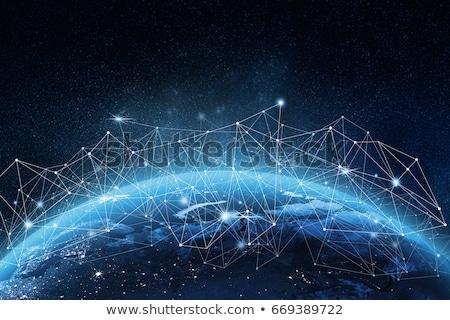 globale · rete · mondo · mappa · del · mondo · punto · internazionali - foto d'archivio © -Baks-