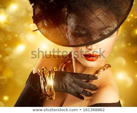 Beauty fashion gorgeous woman portrait. Makeup, expensive jewelr Stock photo © Victoria_Andreas