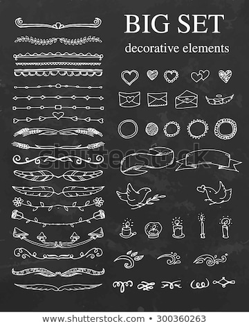 Vintage decorative calligraphic frames on a chalkboard background - vector set Stock photo © blue-pen