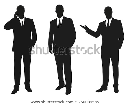 businessman silhouette at the office pose Stock photo © Istanbul2009