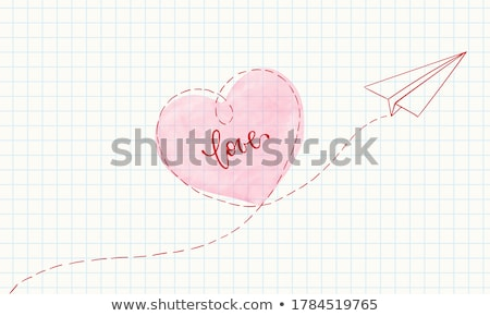 red heart and notepaper Stock photo © devon