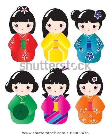 人形 実例 花 面白い 中国語 ストックフォト © adrenalina