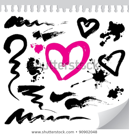 Cepillo dibujado a mano vector moderna textura Foto stock © kollibri