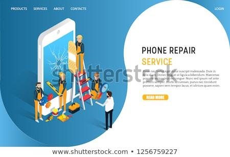 gadget repair icon flat design stock photo © wad