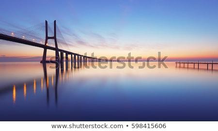 stad · Lissabon · schemering · Portugal · daken · huis - stockfoto © tito