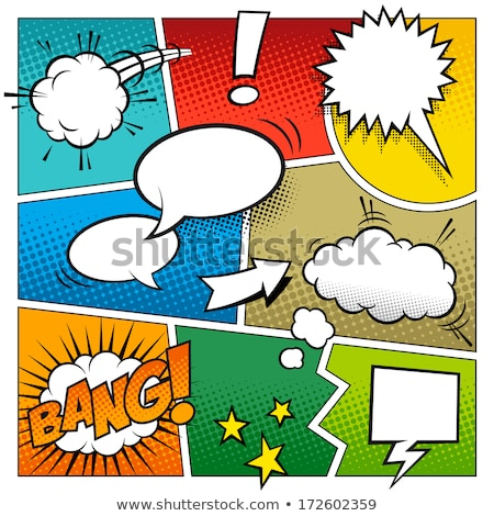 comic book page empty template background with halftone Stock photo © SArts