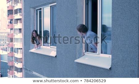 couple embracing each other in balcony stock photo © wavebreak_media