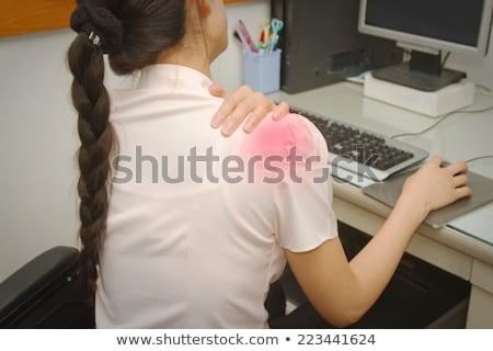 Női igazgató szenvedés vállfájás fehér gondolkodik Stock fotó © wavebreak_media