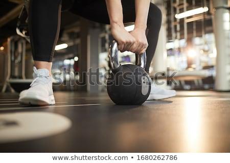 Baixo seção atleta halteres saúde Foto stock © wavebreak_media