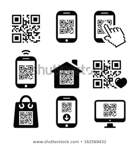 Código qr móviles teléfono celular vector Foto stock © RedKoala
