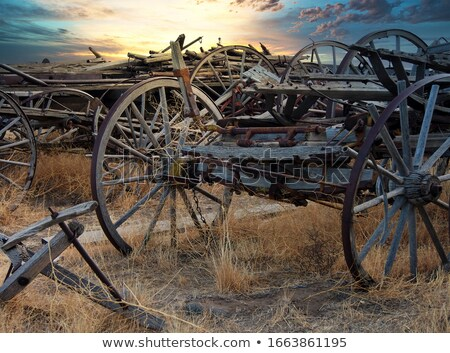 Old broken wooden wagon Stock photo © Klinker