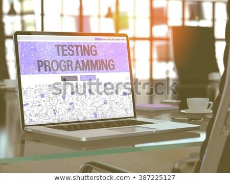frissítés · szoftver · információ · billentyűzet · kulcs · internet - stock fotó © tashatuvango