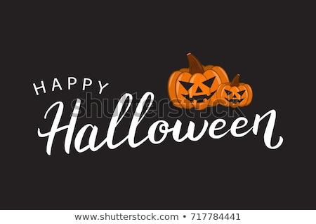 Happy Halloween - celebration card with calligraphy text and a ghost Stock photo © Decorwithme
