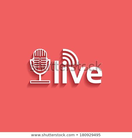 Vintage lucht live uitzending teken radio Stockfoto © stevanovicigor