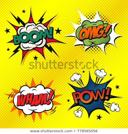 POW! Comic speech bubble, comic sound. Vector cartoon illustrati Stock photo © pashabo