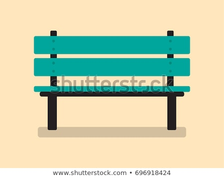 Benches flat icons Stock photo © biv