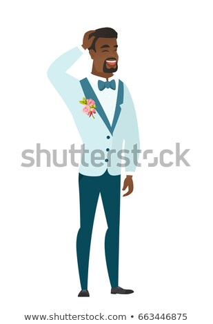 Young african-american bridegroom laughing. Stock photo © RAStudio