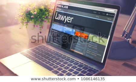 Iroda adminisztrátor csapat 3D újság apróhirdetések Stock fotó © tashatuvango