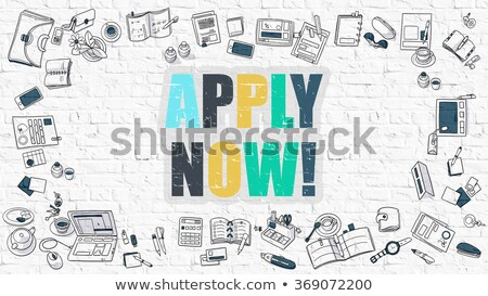 join now in multicolor doodle design stock photo © tashatuvango