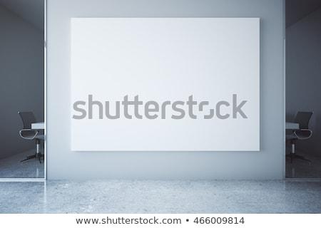 Blank whiteboard in the office, white board as copy space Stock photo © stevanovicigor