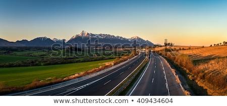 Dağ yüksek Slovakya manzara dağlar park Stok fotoğraf © phbcz