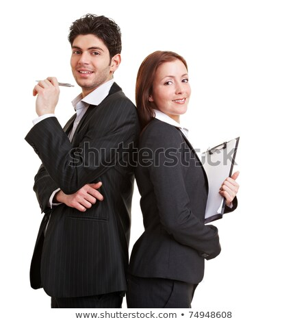A head shot of a business couple. Stock photo © IS2