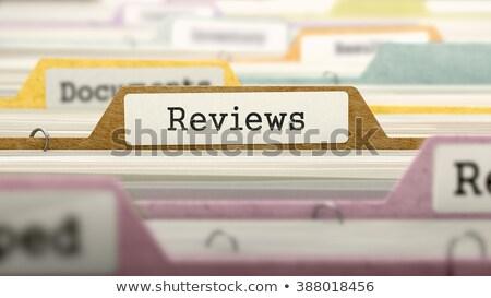 cartão · auditar · negócio - foto stock © tashatuvango