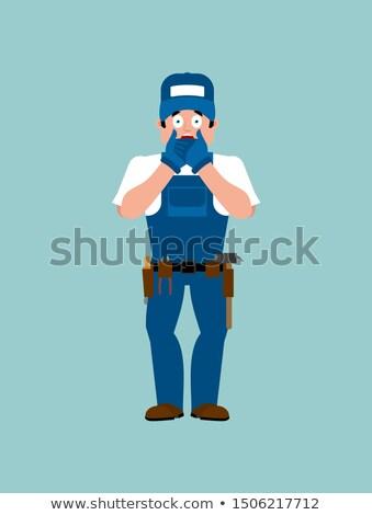 Vízvezetékszerelő omg enyém Isten szolgáltatás munkás Stock fotó © popaukropa