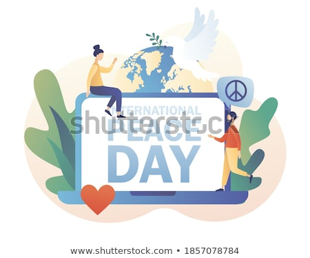 Globe Community Concept on Laptop Screen. Stock photo © tashatuvango