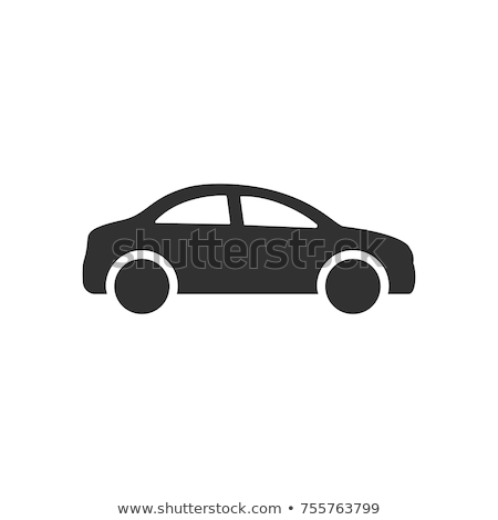 Samochodu ikona ikona proste stylu streszczenie Zdjęcia stock © dimashiper