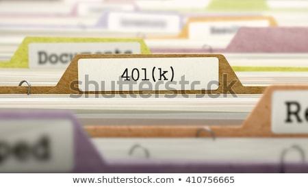 map · label · pensioen · plan · geld · werk - stockfoto © tashatuvango
