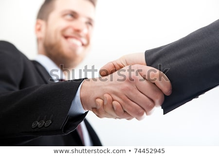 Business man wringing hands together Stock photo © IS2