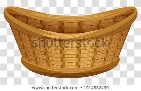 Empty wicker basket for flowers. Large birds nest for eggs Stock photo © orensila