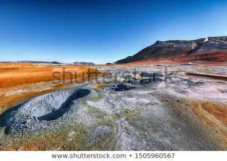 geothermal area namafjall with steam eruptions iceland europe stock photo © kotenko