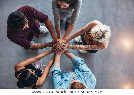 Młodych ludzi inny kobieta miłości człowiek opieki Zdjęcia stock © IS2