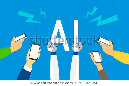 smartphone smart phone with brain fantastic concept technology stock photo © popaukropa