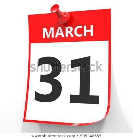 стены календаря красный Pin 31 рождения Сток-фото © Zerbor