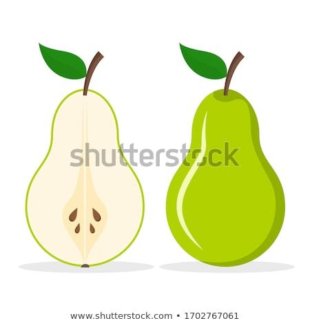зеленый груши лист вектора Cartoon иллюстрация Сток-фото © RAStudio