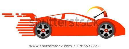 Courier on speedy sport car stock photo © studioworkstock