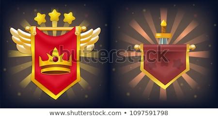 middeleeuwse · zwaard · geïsoleerd · spel · element · cartoon - stockfoto © studioworkstock
