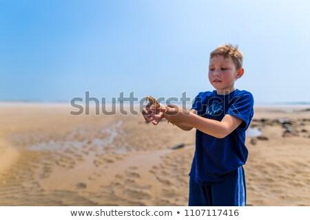 Nino estrellas de mar verano retrato horizonte Foto stock © IS2