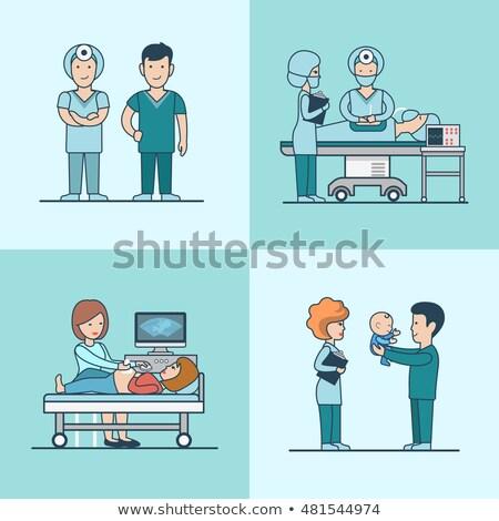 linear style nurse icon  Stock photo © Olena