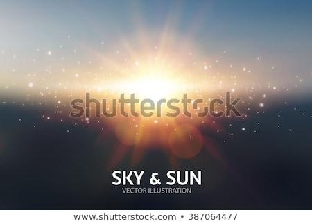 Güneş ışığı vektör gerçekçi bulanıklık dizayn yumuşak Stok fotoğraf © pikepicture