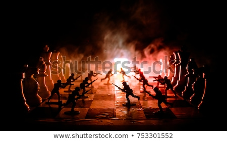 soldier military detailed silhouette stock photo © krisdog