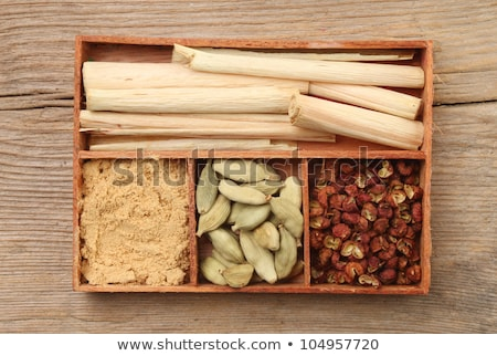 Herbs in old wood box Stock photo © sumners