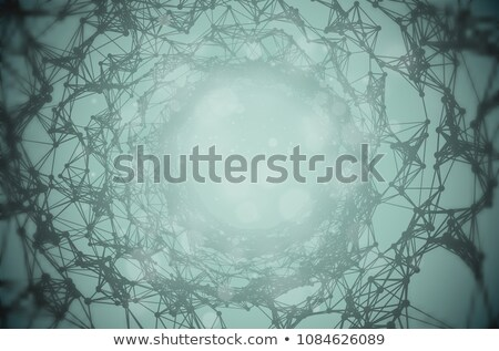 Vector twisted tunnel delicate structure on deep water green blue background. Sci-fi gloomy dark Stock photo © Iaroslava