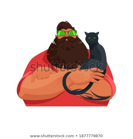 猫 強い 動物 残忍な ペット デザイン ストックフォト © popaukropa